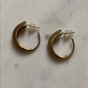 Brass Open Hoop Earrings